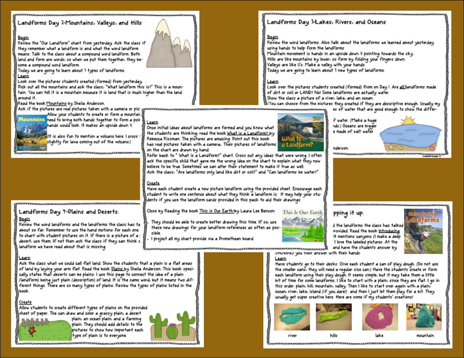 Coloring Book Of Different Landforms