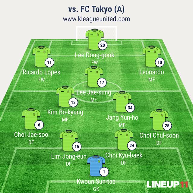 Jeonbuk Hyundai Motors vs FC Tokyo (AFC Champions League 2016, Apr 20th, Ajinomoto Stadium)