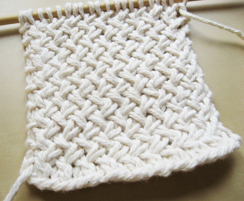 Diagonal Basketweave - Free Pattern