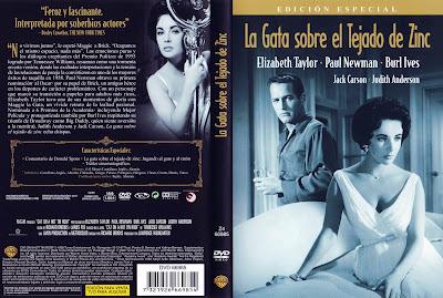 Caratula, Cover, Dvd: La Gata Sobre el Tejado de Zinc | 1958 | Cat on a Hot Tin Roof