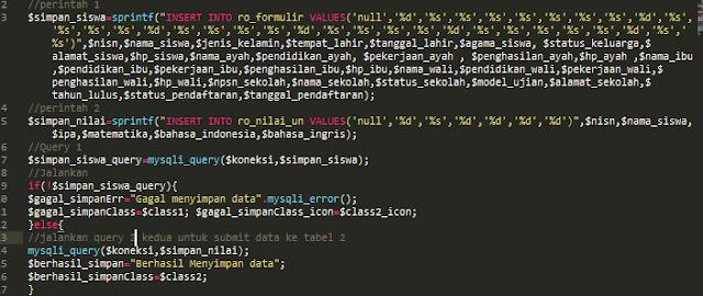 Contoh Menyimpan Data Ke 2 Tabel MySQL Sekaligus Menggunakan PHP MySQLi