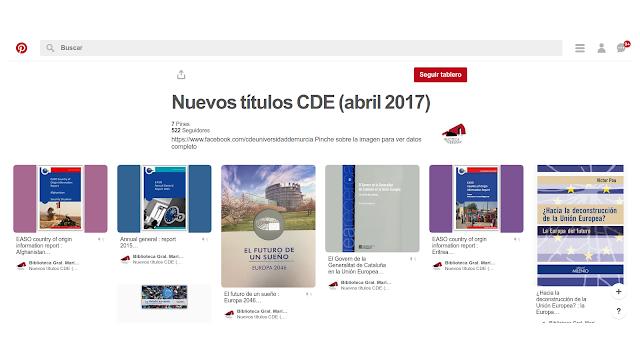 Nuevos títulos en el CDE - abril 2017.