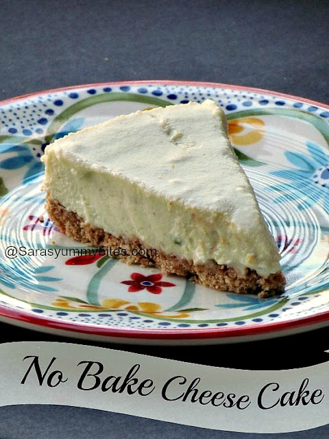 No Bake Eggless Pistachios Cheesecake