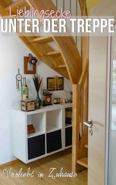 Lieblingsecke unter der Treppe: neu dekoriert in Vintage und Flohmarkt Flair