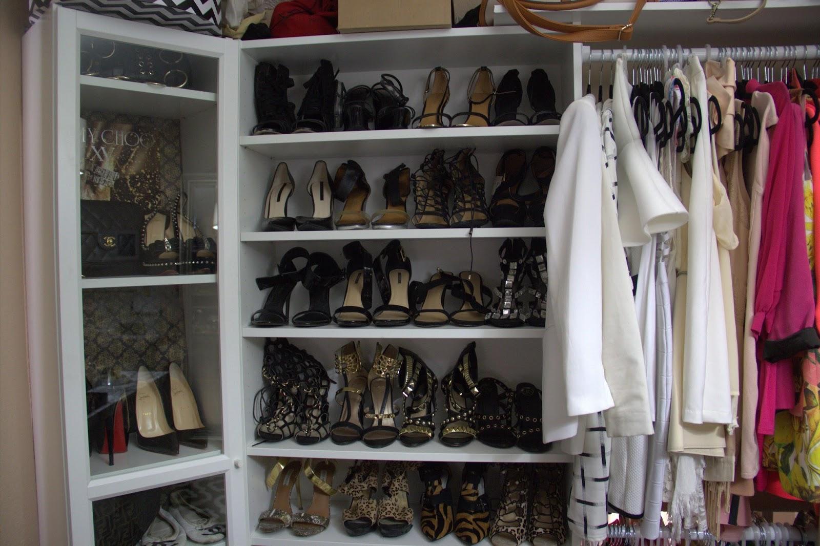 bookcases for shoes, ikea hack, ikea shoe closet hack, ikea coset hack