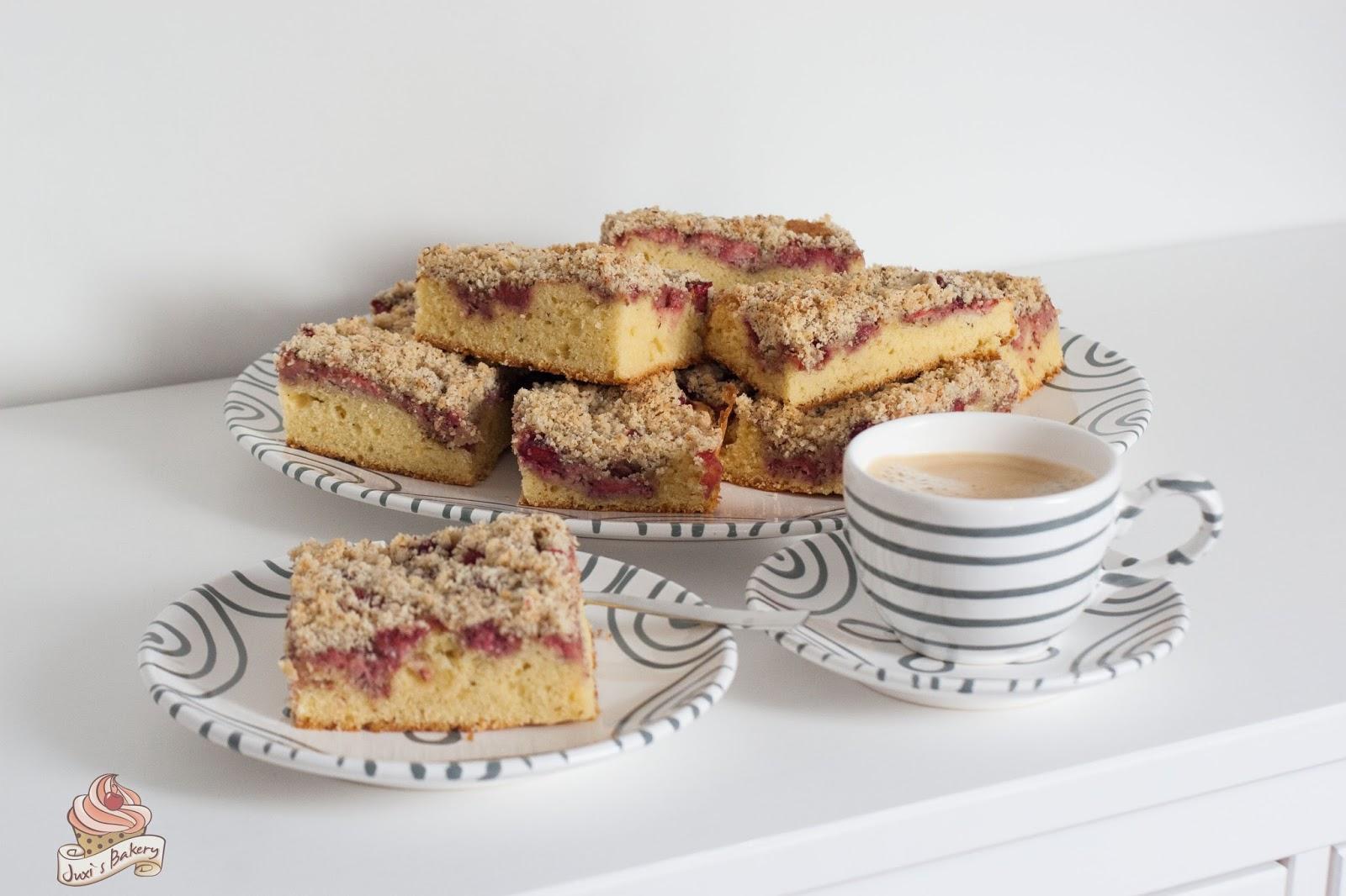Juxi S Bakery Erdbeer Streuselkuchen Am Blech