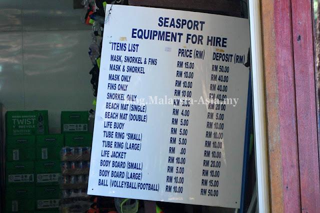 Manukan Sea Sports Equipment