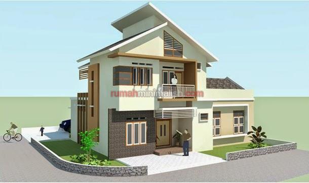 Desain rumah minimalis 2 lantai pojok model rumah unik 2016 & Gambar Denah Rumah Type 36 Hook 2 Lantai - House Q