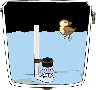 ロータンクの排水時のイメージ