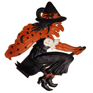 Review of  timeline for German-made spooky Halloween decoration 1940s.