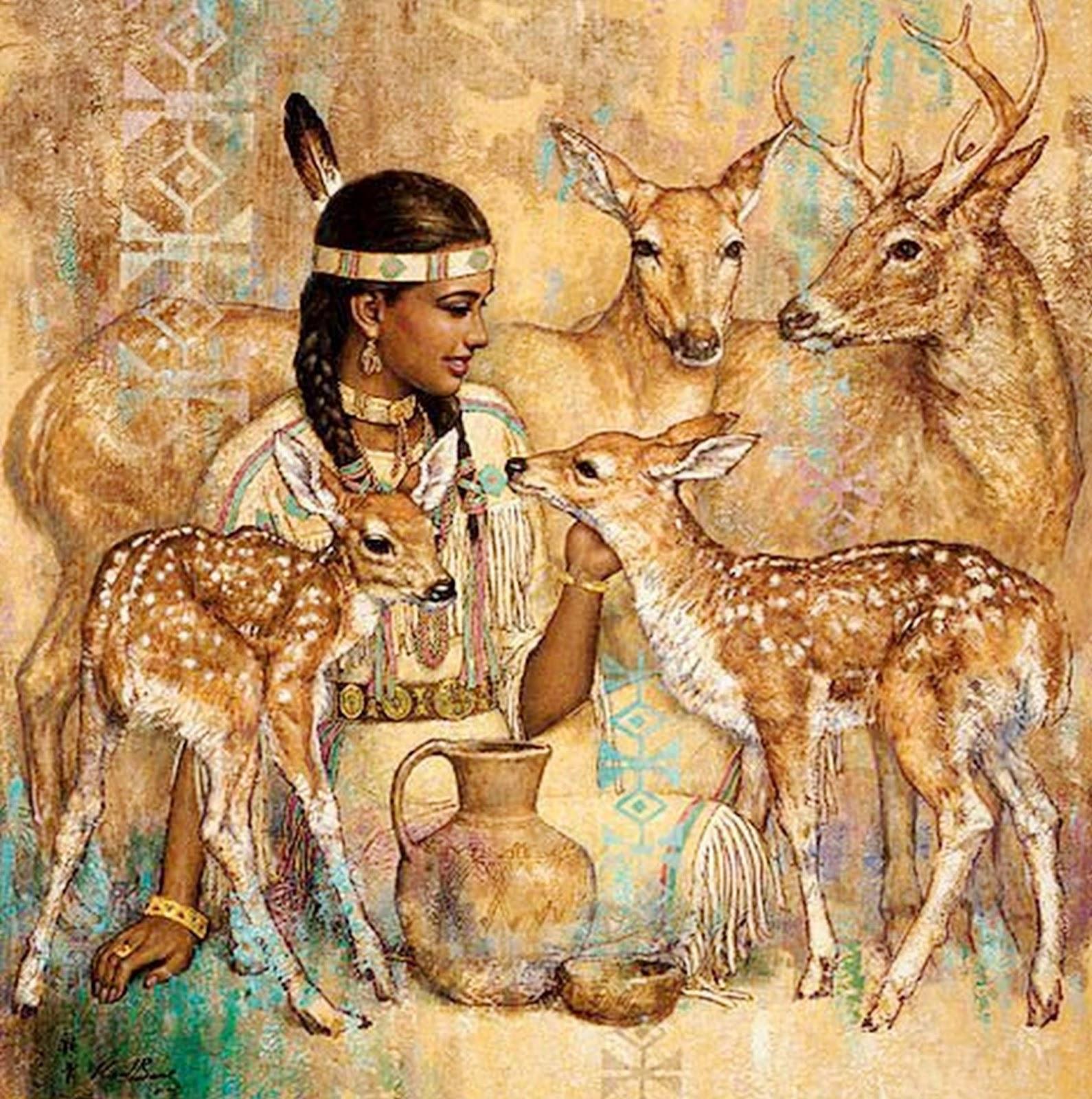 Karl Bang - Pinturas de Mulheres com Animais Selvagens