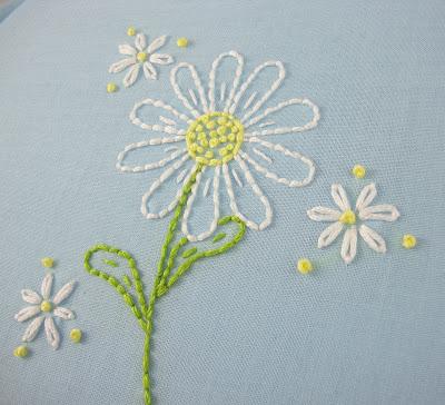 Big B Daisy Embroidery Pattern Packet