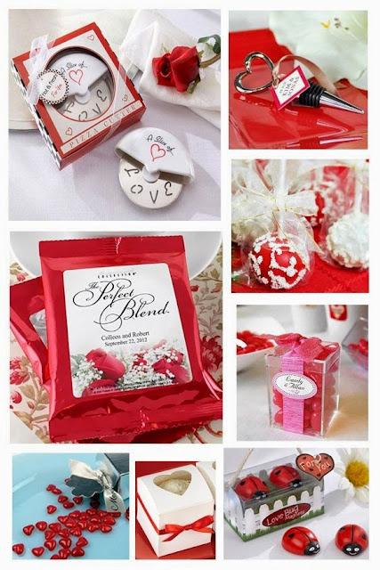 Red Wedding Favor Ideas