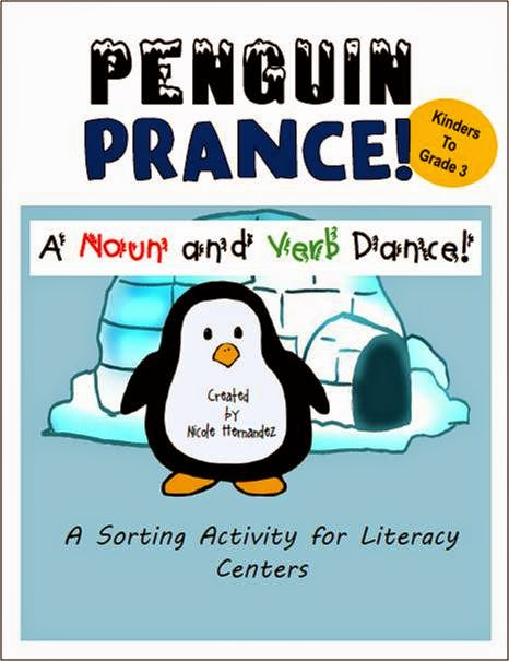 http://www.teacherspayteachers.com/Product/FREEBIE-Penguin-Prance-A-Noun-and-Verb-Dance-Sorting-Activity-K-to-Grade-3-1623181