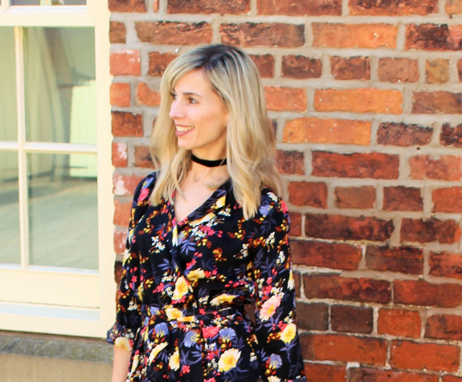 Bloggers X Boohoo Dress of the Month OOTD 4 - Velvet Choker
