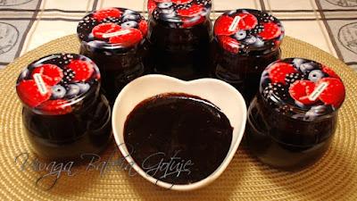 czekoladowy dżem wiśniowy