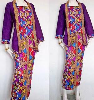 Model Baju Batik Setelan wanita muslimah