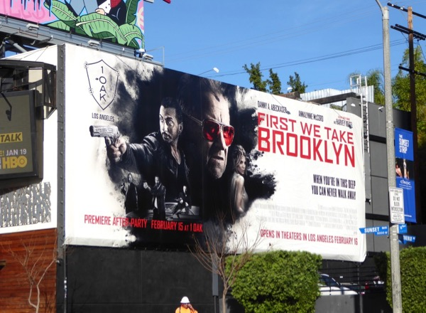 First We Take Brooklyn movie billboard