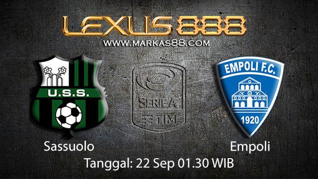 Prediksi Bola Jitu Sassuolo vs Empoli 22 September 2018 ( Italian Serie A )