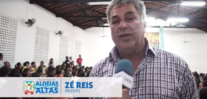 """ALDEIAS ALTAS EM AÇÃO: Prefeito Zé Reis participa da aula inaugural do programa """"Sim Eu Posso"""""""