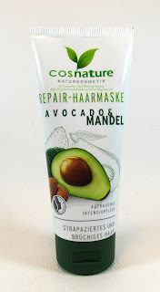 Cosnature Naturkosmetik - Maschera capelli riparatrice Avocado & Mandorla - packaging