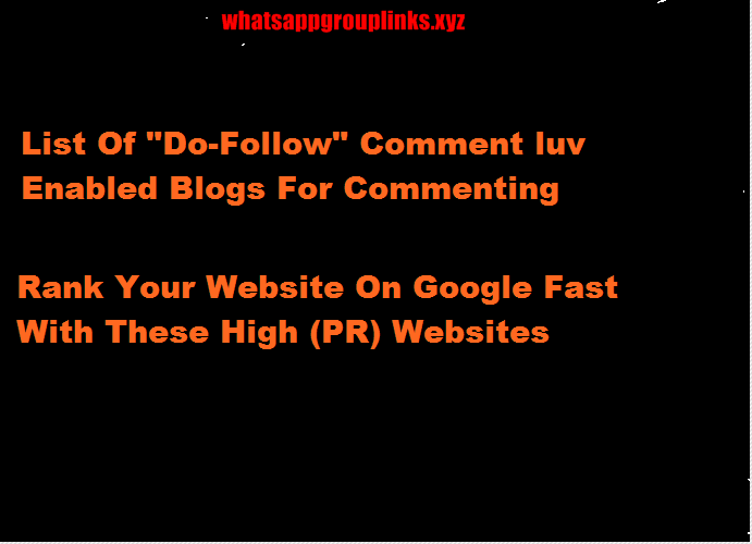 Do Follow Backlinks For Blog Commenting-Seo