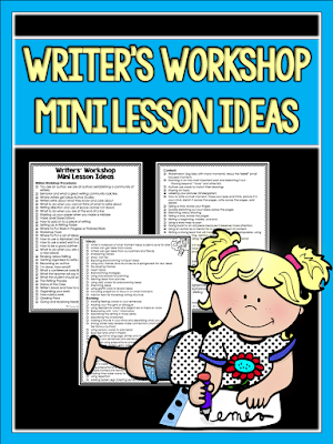 Looking for mini lesson ideas? This post includes this freebie checklist you can print and keep on hand for planning.