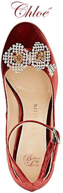 Brilliant Luxury ♦ Chloé Gosselin Helix velvet ankle-strap pumps