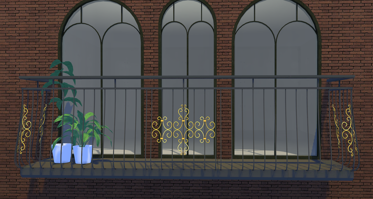My sims 4 blog classic balcony by minc78 for Sims 4 balcony