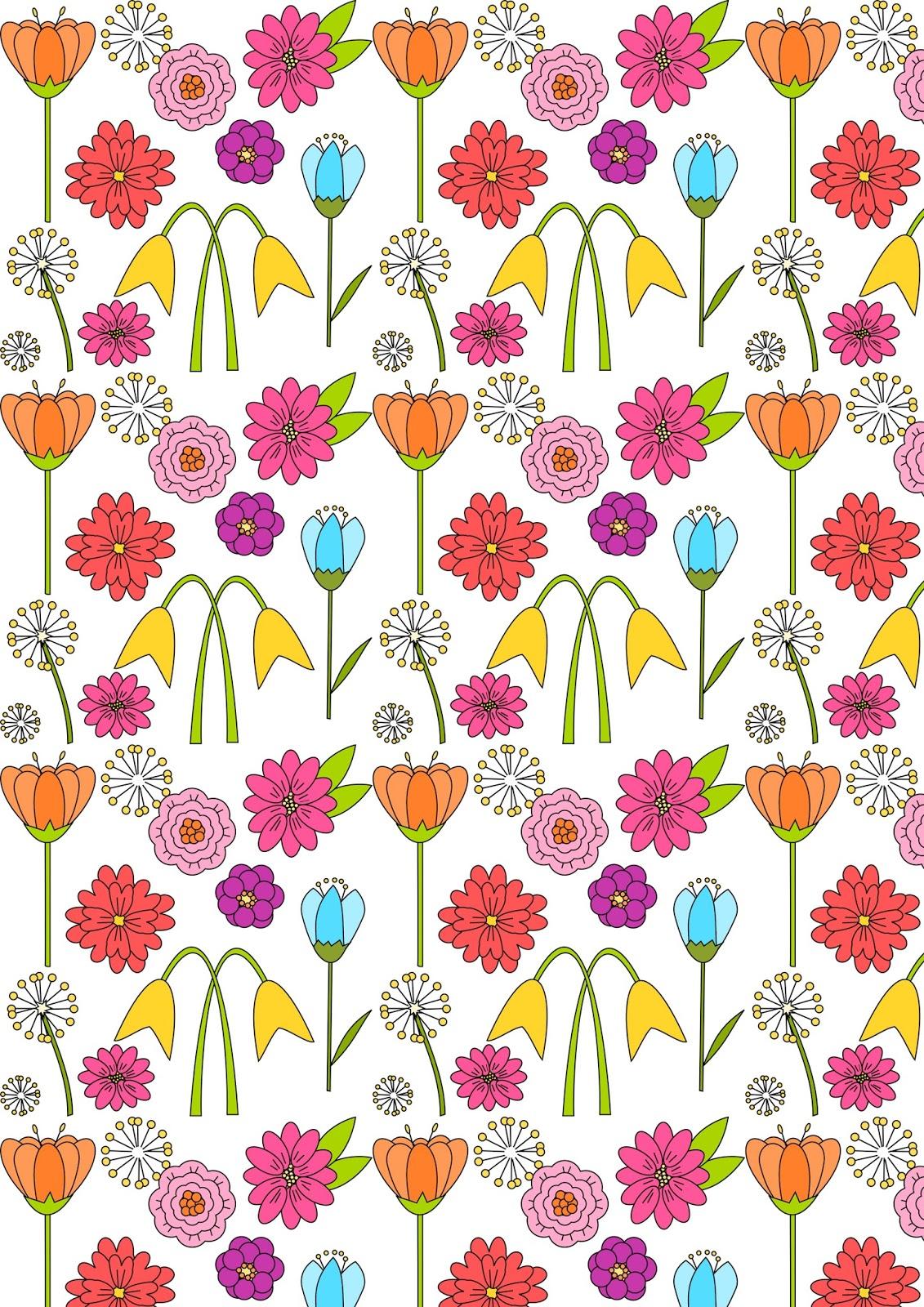 Free Digital Spring Scrapbooking Paper