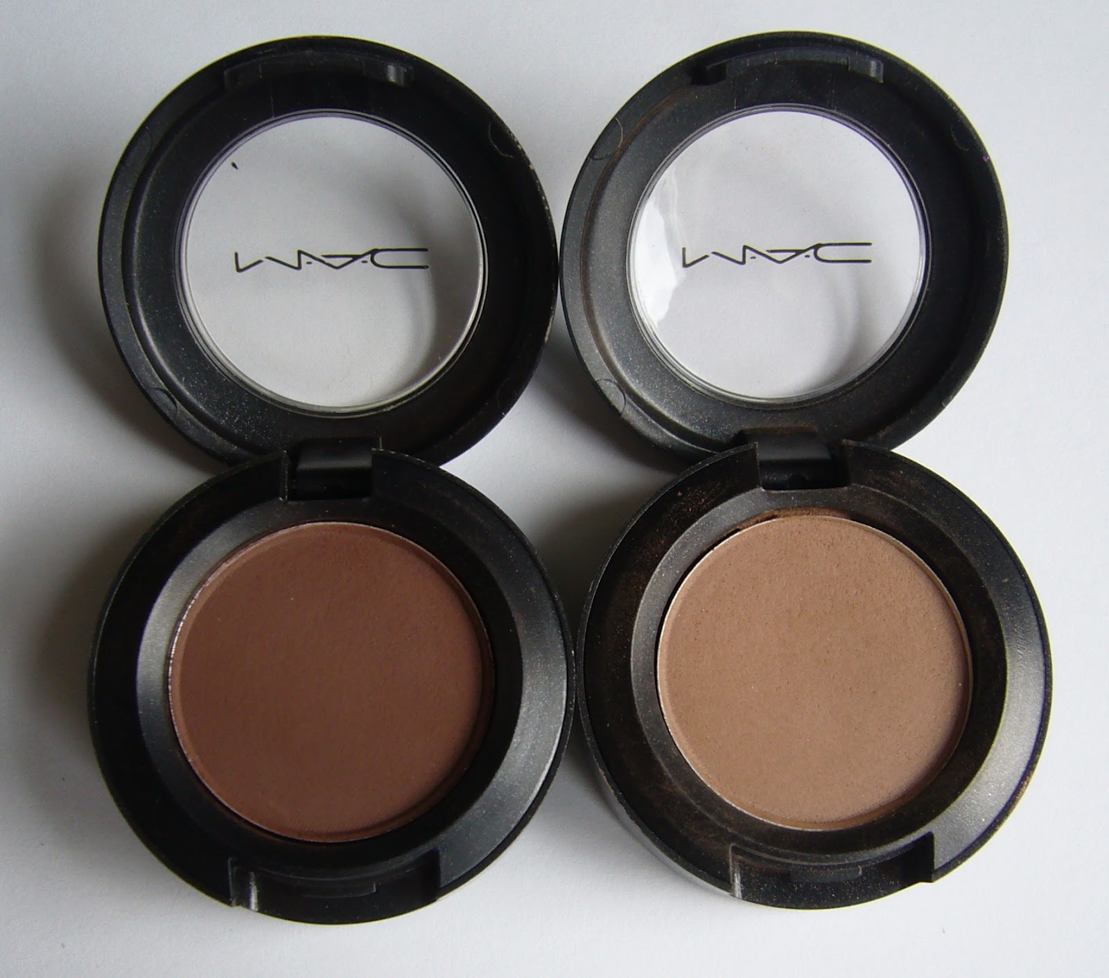 MAC brown matte eyeshadow in Corduroy (left) is my go to