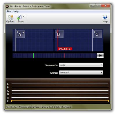 Cara Stem Gitar di Laptop Menggunakan PitchPerfect