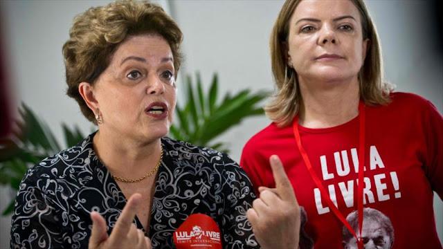 """Rousseff califica a Lula de """"esperanza frente a los golpistas"""""""