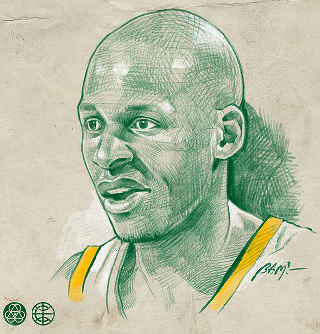 BamBamBam - #YellowMenace Basketball Art Collection