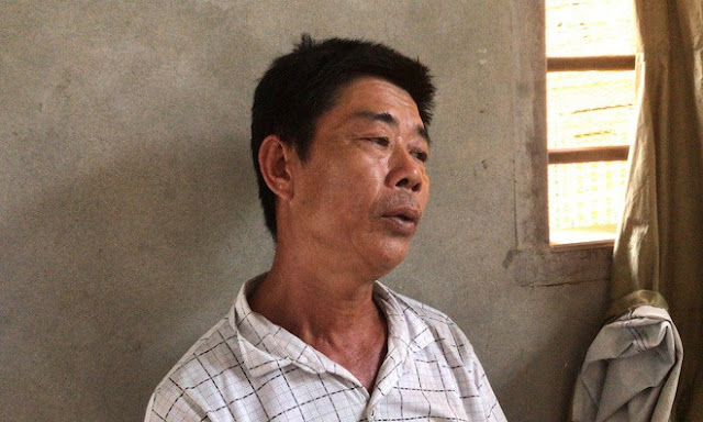 Ông Hà (bố vợ nạn nhân Thành) đau đớn kể lại sự việc