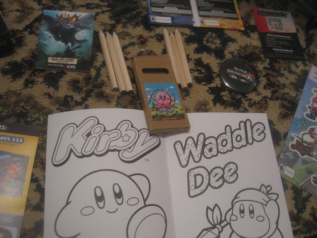 Kirby Rainbow Curse coloured pencils colouring book Waddle Dee