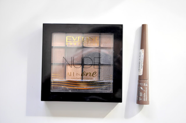 paletka cieni eveline nude all in one, puder do brwi rimmel brow this way