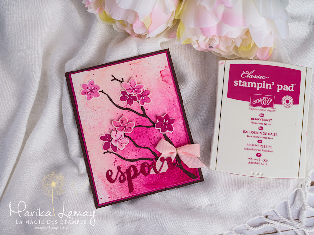 carte saisons colorées Stampin' Up! colorful season