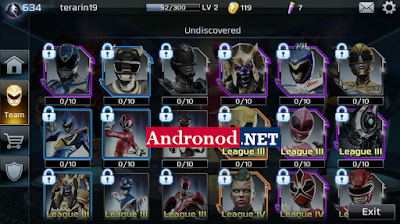 Power Rangers Legacy Wars v1.0.1 Mod Apk Data (Full Unlocked+Unlimited Money)