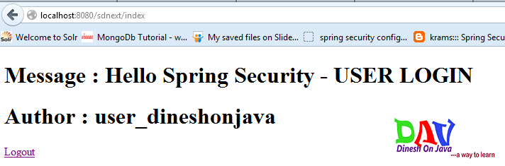 Spring Security Authorized Access