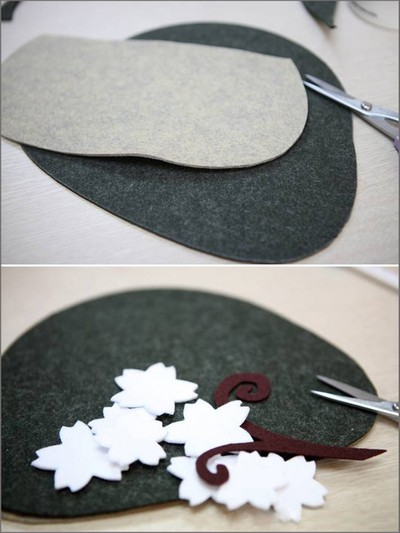 How to sew a cherry blossom wallet from felt cloth 1