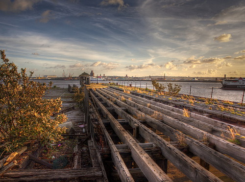 decaying wharf