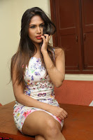 Nishi Ganda stunning cute in Flower Print short dress at Tick Tack Movie Press Meet March 2017 219.JPG