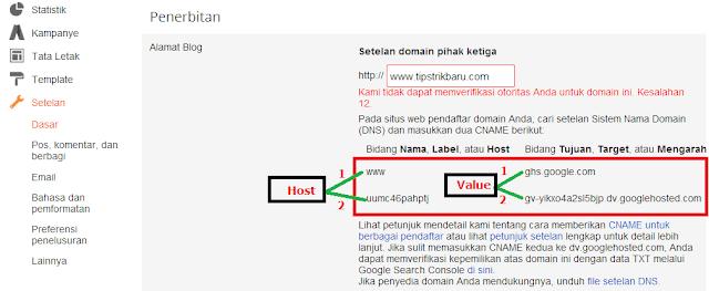 cara mengganti domain blogspot.com dengan domain sendiri