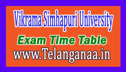 VSU LLB 3 YDC 2nd Sem Revised Exam Time Table 2016