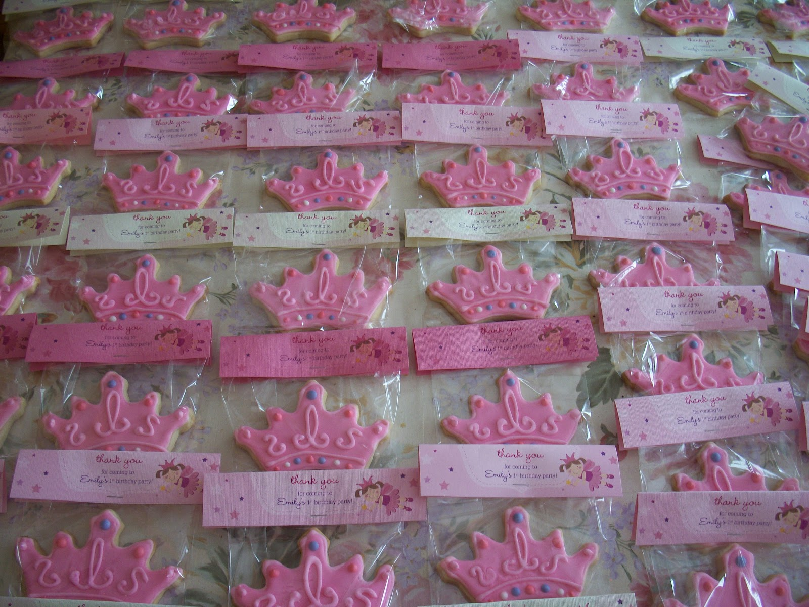 Just Wanted To Share Some Cute Cookies I Made For A Special Little Girls First BirthdayShe Was Having Princess PartyEvery Girl Deserves An