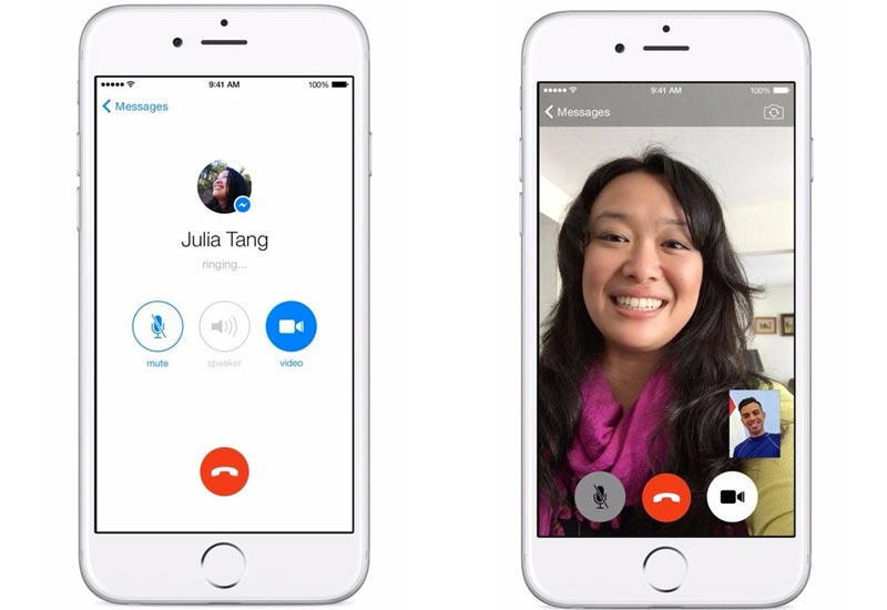make facebook calls from iphone
