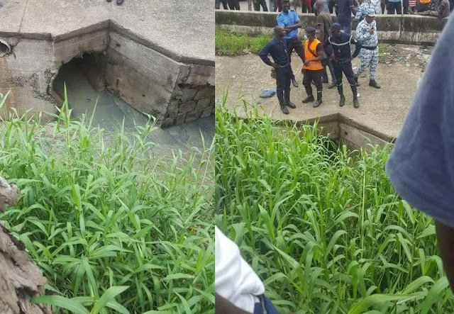 See Photos Policemen Disappointed As Thief Escapes Through Gutter After Hot Pursuit