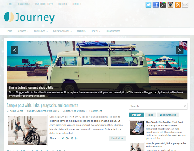 Journey Blogger Template