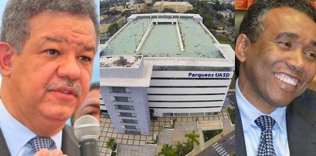 Leonel Fernandez y Felix Bautista construyeron en la UASD el Parqueo mas caro del mundo